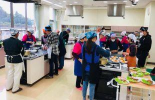 地元の食材を使った料理教室
